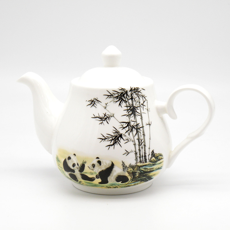 Чайник Панда, фарфор