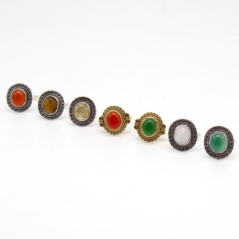 Кольцо, камень, белый металл, латунь