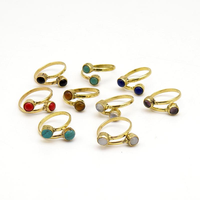 Кольцо, камень, латунь