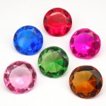 Огранка кристаллическая, заводской хрусталь, цветное стекло