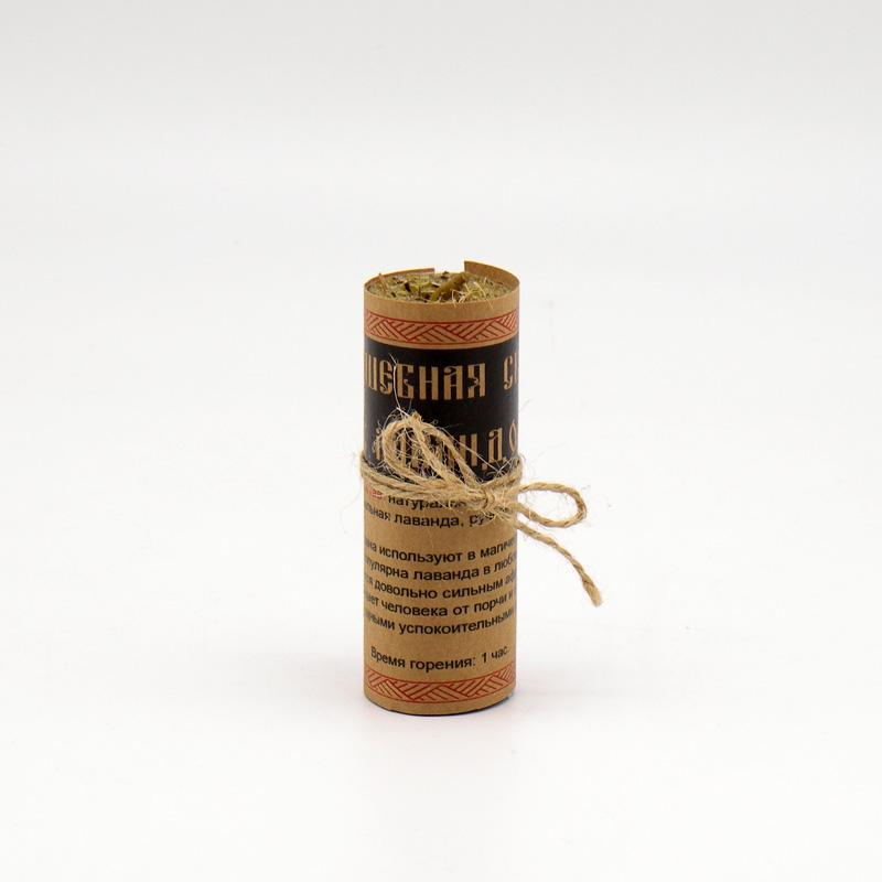 Волшебная свеча из вощины и пчелиного воска, с лавандой, ручная работа