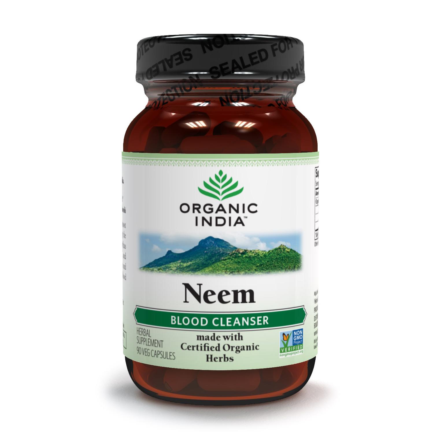 Organic India, Ним (Neem) (90 растительных капсул)
