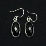 Серьги, серебро, натуральный камень - оникс, 5.34 грамм, проба 925