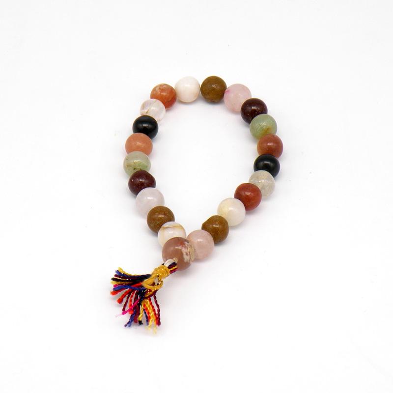 Чётки-браслет из разных камней (22 чётки)