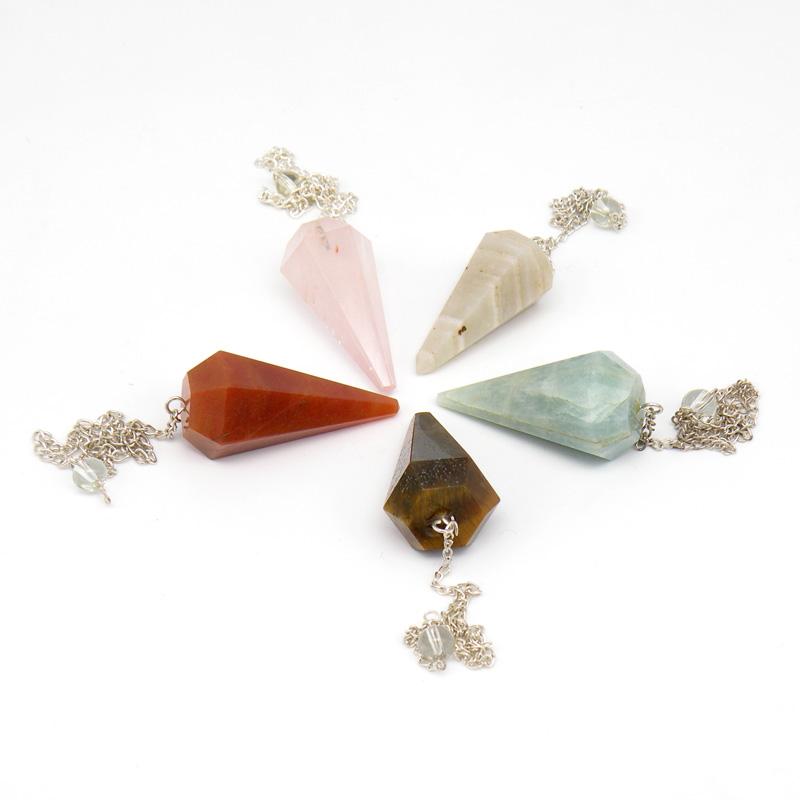 Маятник (инструмент биолокации), натуральный камень, конус