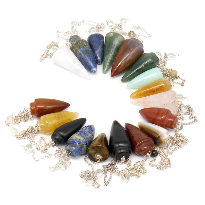 Маятник (инструмент биолокации), натуральный камень