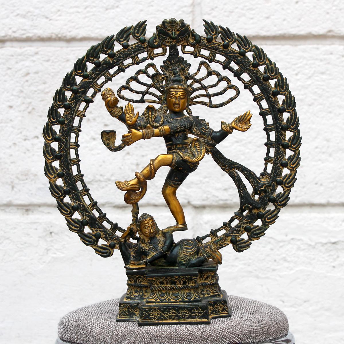 Бог Шива Натараджа (господин танца), бронза, патинированная бронза (стиль стариной бронзы)