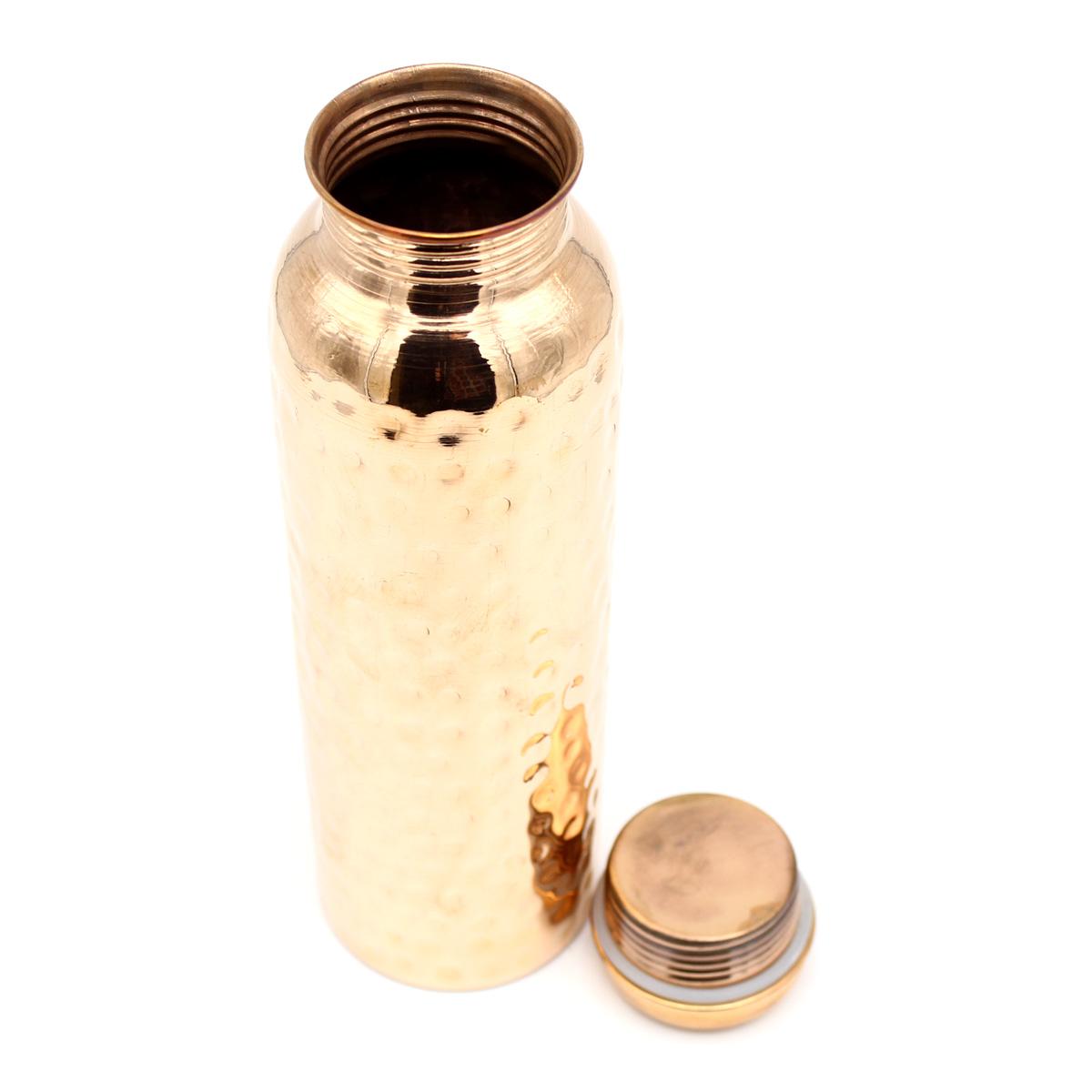 Медный термос, 1 л, чеканка, каучуковая прокладка