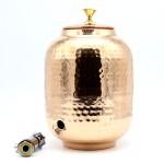 Медный бочонок для хранения воды, 5 л, с краником