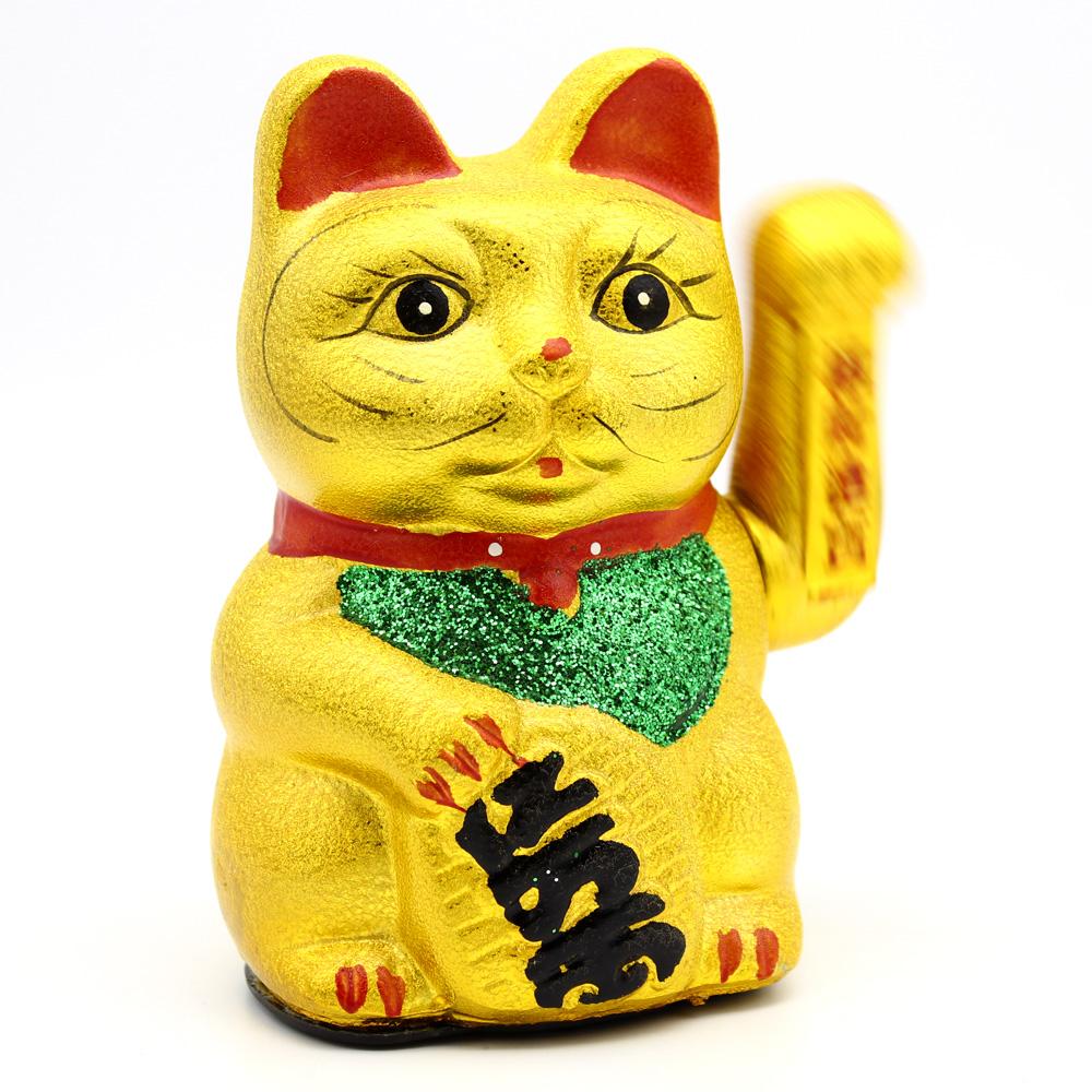 Манеки-Неко денежный кот удачи (японский счастливый кот), керамика