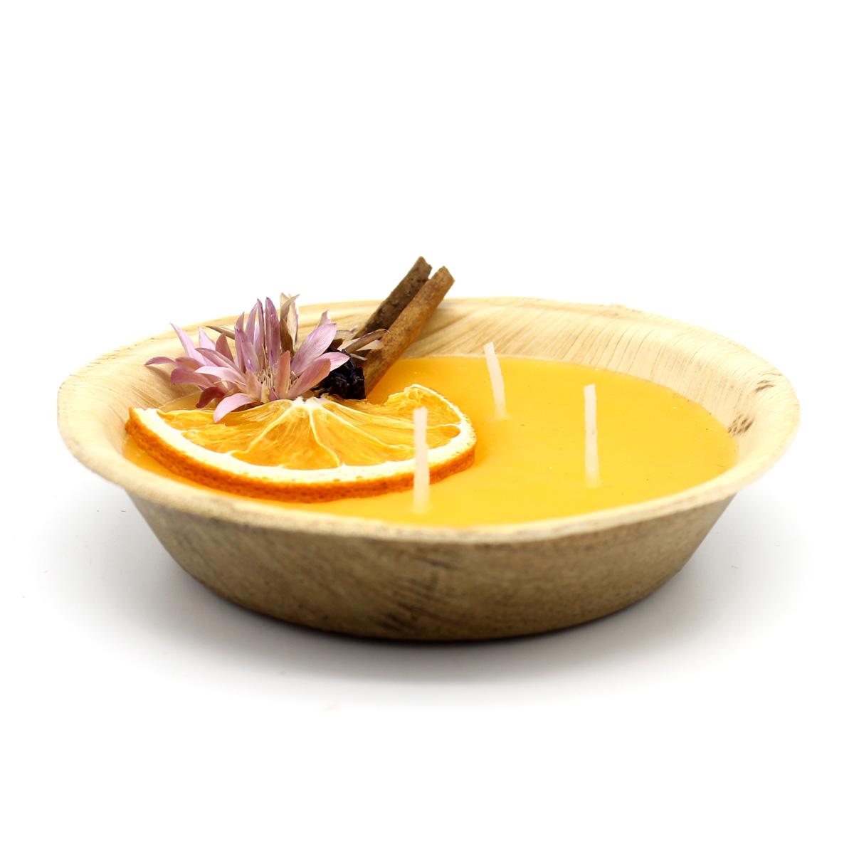 Декоративная ароматическая свеча, апельсин, парафин