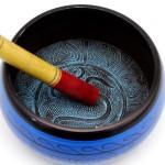 Поющая чаша (с деревянным пестом) алюминий