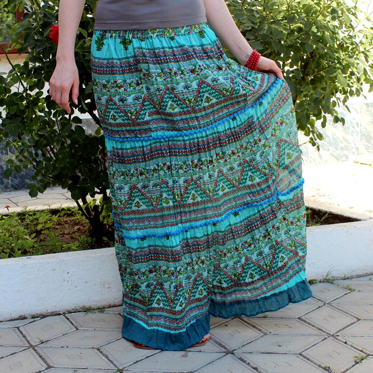 Индийская юбка в этническом стиле