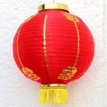 Китайский фонарик, красный, складной