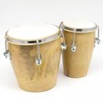 Барабан Бангу, двойной, из дерева Бангу