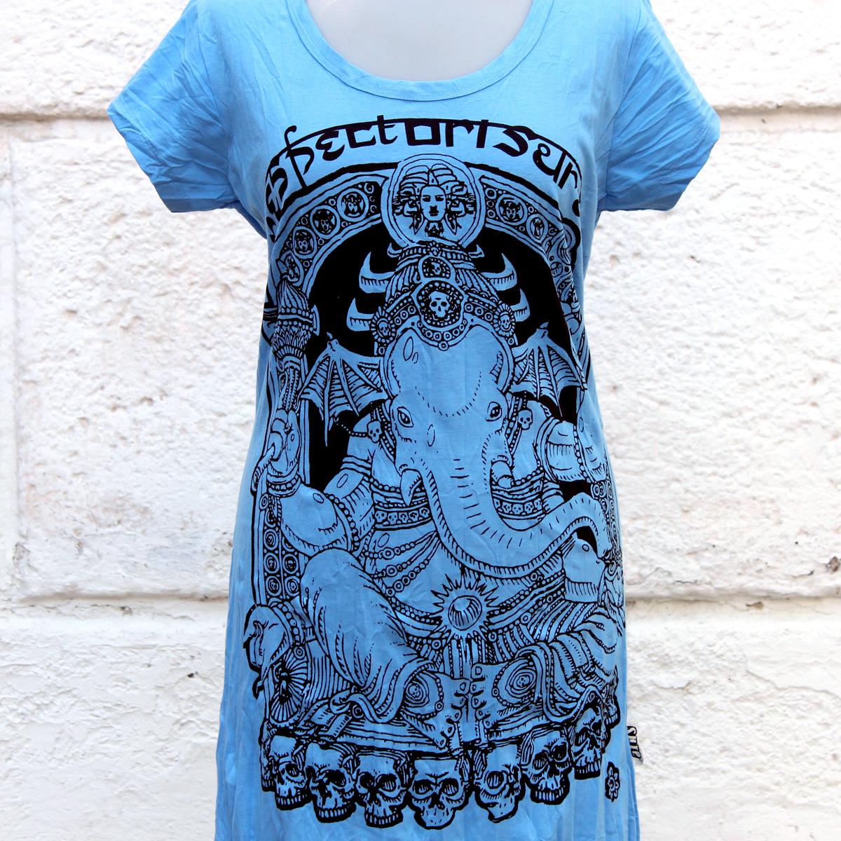 Футболка - платье, индийские божества, индийская культовая символика