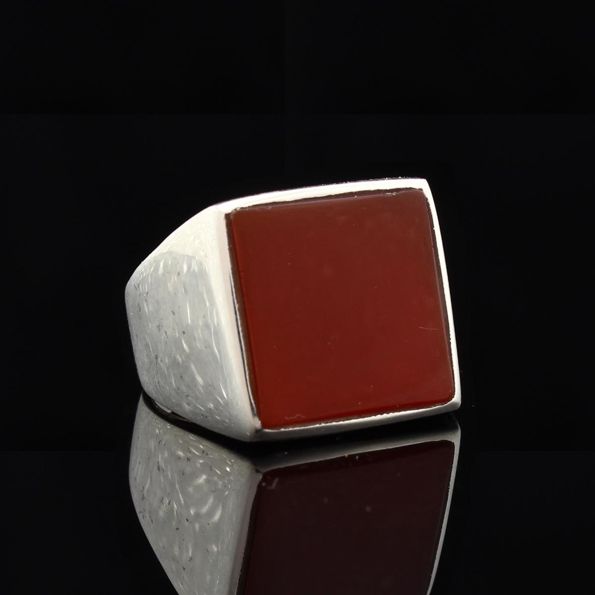 Кольцо, серебро, натуральный камень, Сердолик, 7.5 г, проба 875, размер 18