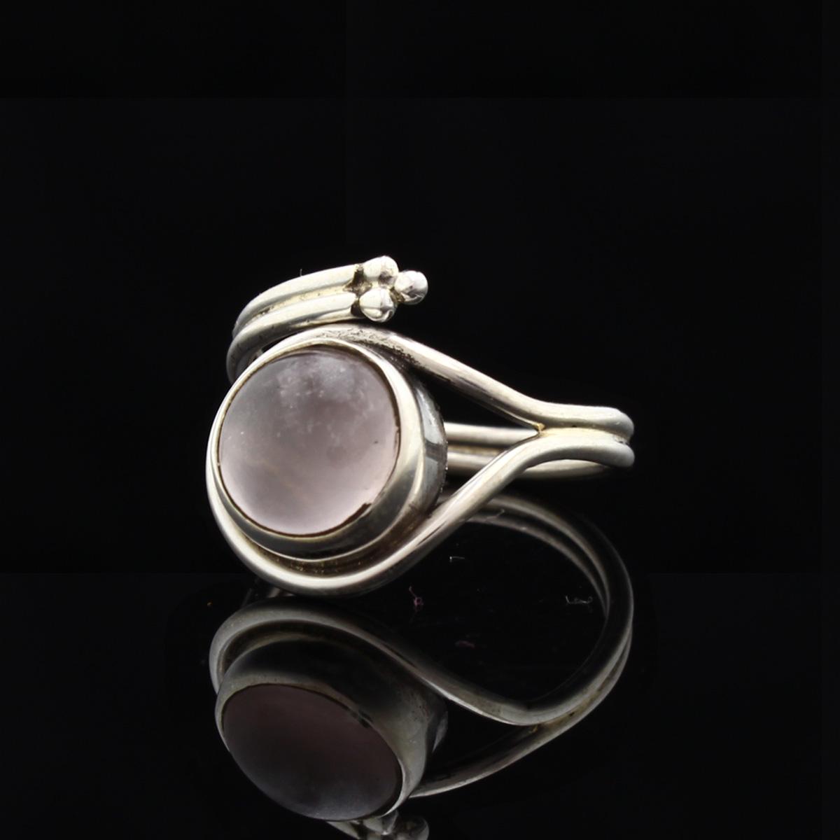 Кольцо, серебро, натуральный камень, Розовый кварц, 4.0 г, проба 875, размер 16 +