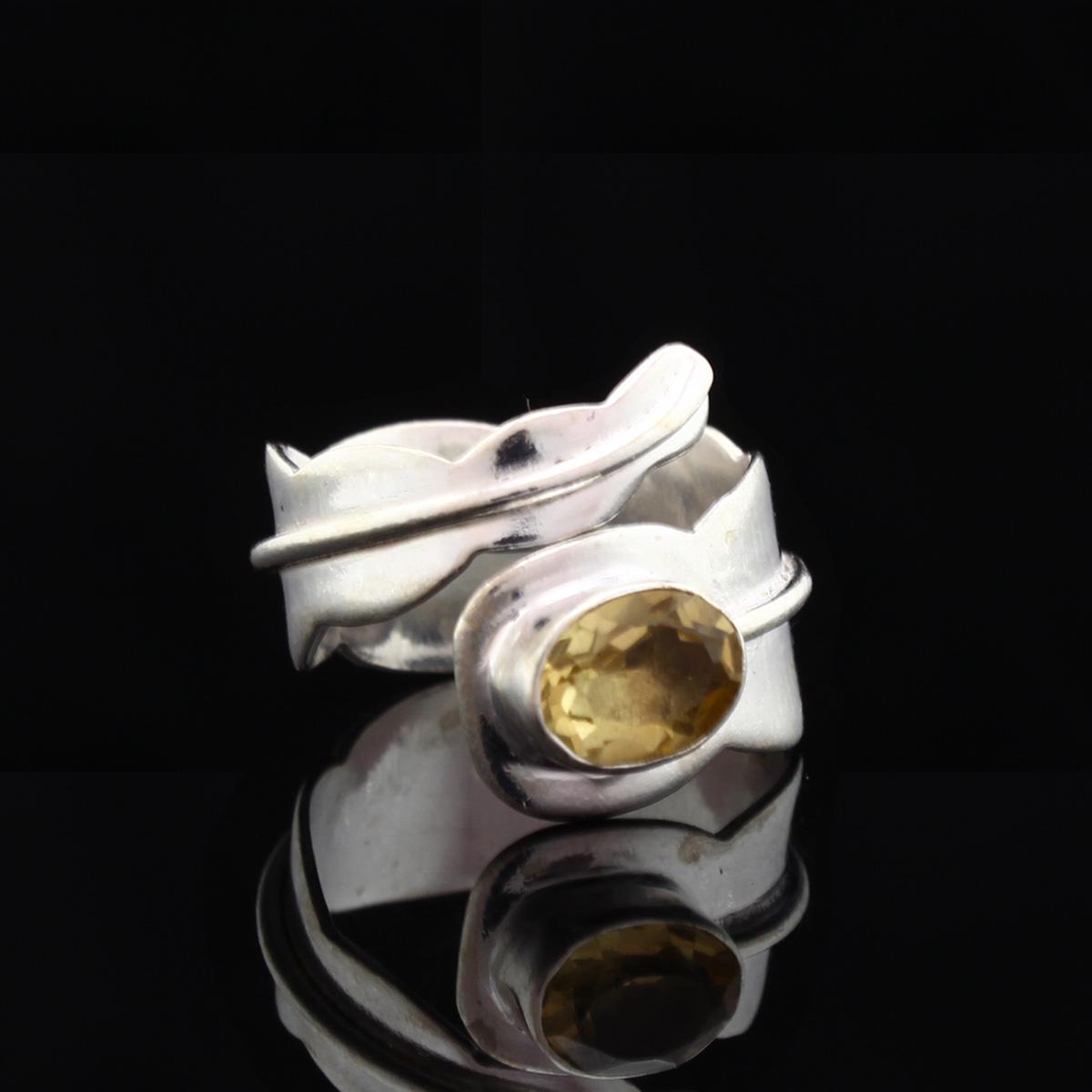 Кольцо, серебро, натуральный камень, Цитрин, 5.68 г, проба 875, размер 17