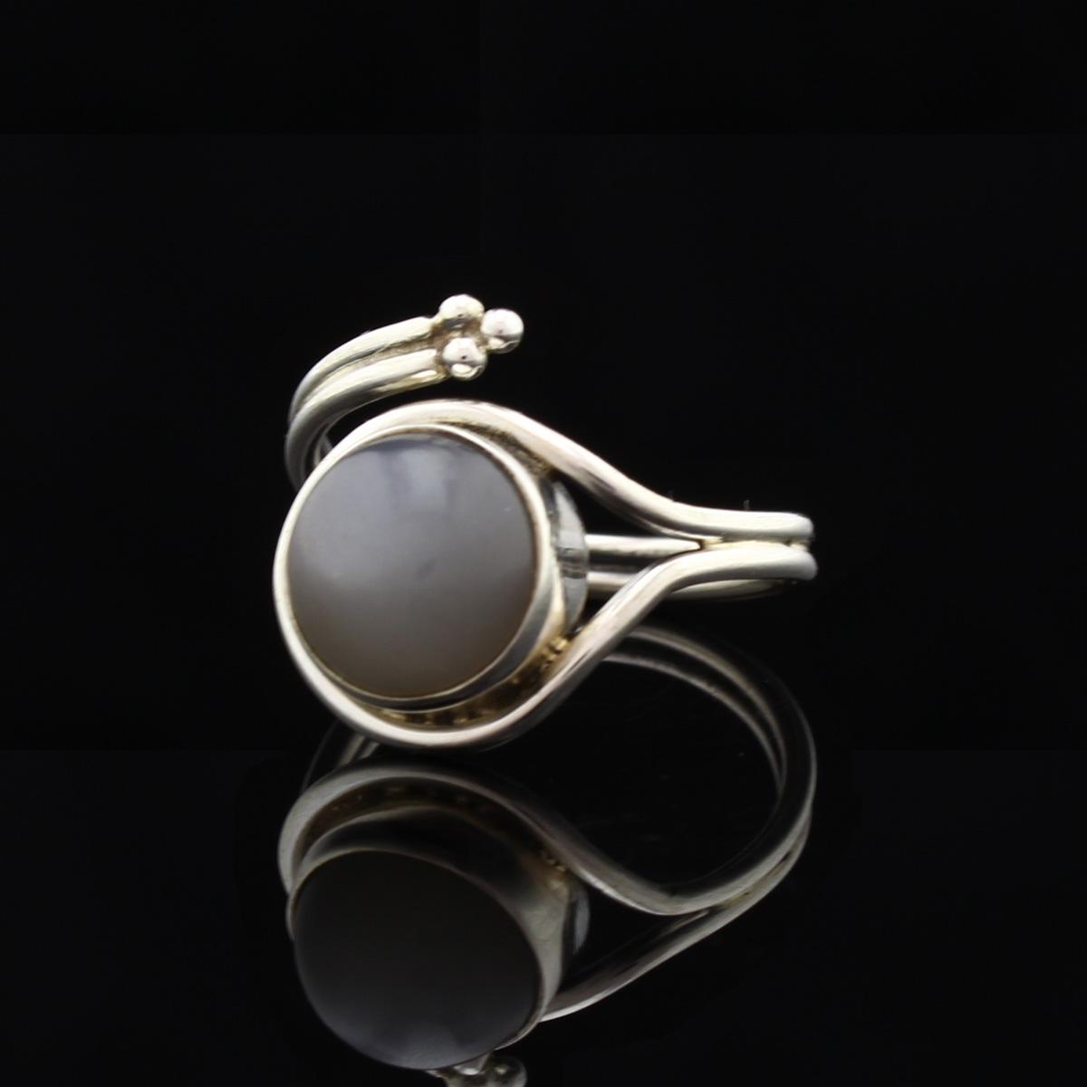 Кольцо, серебро, натуральный камень, Кошачий гла, 4,26 г, проба 875, размер 18