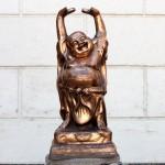 Бог счастья Хотей (Смеющийся Будда), силумин
