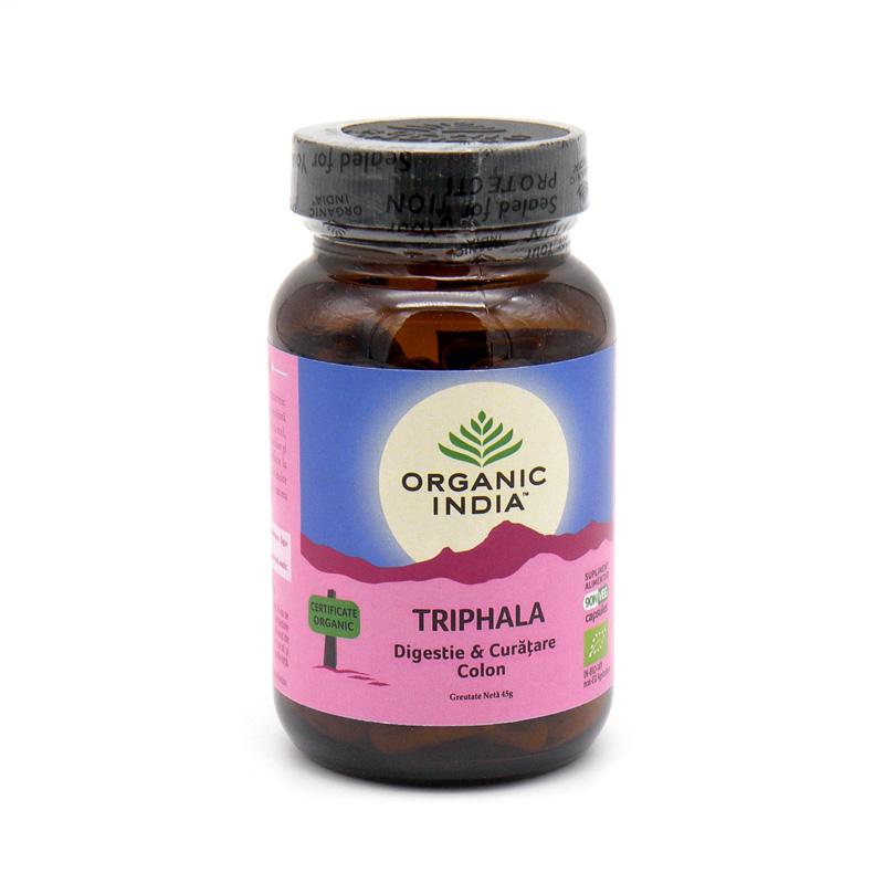 Organic India, Трифала (Triphala) (90 растительных капсул)