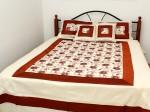 Комплект постельного белья люкс King Size, покрывало вышивка, 4 наволочки, арганза
